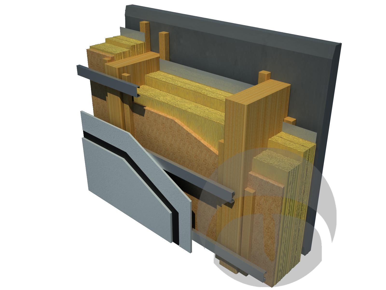 Immagine descrittiva Sistema a secco in legno cemento